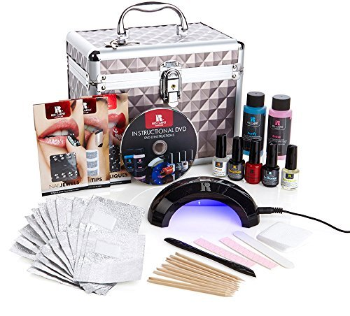(Red Carpet Manicure Pro 45 Ultimate Pro LED Gel Nail Polish Kit with Train Case)