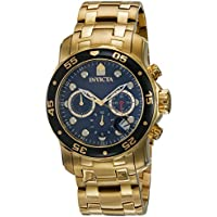 Men's 0072 Pro Diver Collection Chronograph 18k Gold-Plated Watch