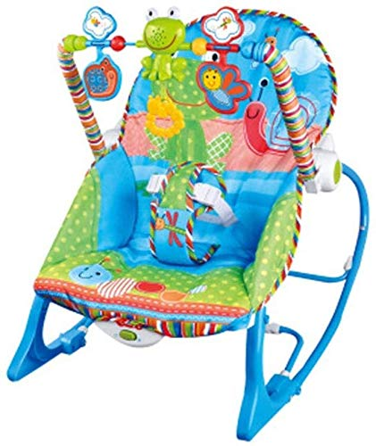RENKUNDE Baby Rocking Chair, Multi-Function Music Vibration Comfort Chair, Gift for 6 to 18 Months Baby Weight Bearing 18KG A,Colour:A Baby Rocking Chair (Color : A) by RENKUNDE