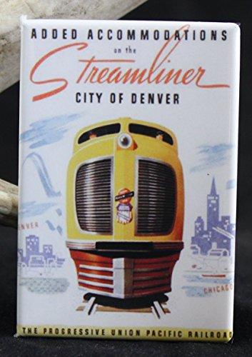 - Streamliner Denver Union Pacific Refrigerator Magnet.