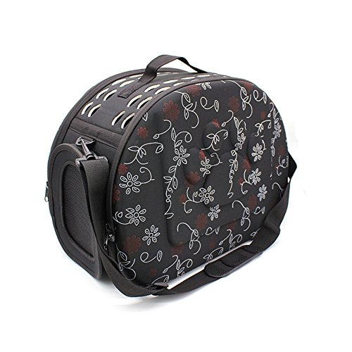 Vedem Pet Collapsible Carrier Duffle Bag EVA Lightweight Travel Tote Bag for Dogs Cats Rabbits (S, ()