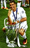 "Cristiano Ronaldo Real Madrid Autographed 9.5"" x 8.5"" 2016 Champions League Mini Replica Trophy - Fanatics Authentic Certified"