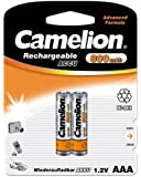 Camelion HR03 Micro AAA 800mAh 1.2V Ni-MH Rechargeable Battery (Pack of 2)