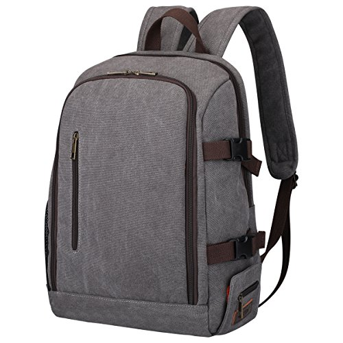 S-ZONE Professional Waterproof Canvas Camera Bag Backpack for DSLR, Lenses, Laptop and Tripod by S-ZONE