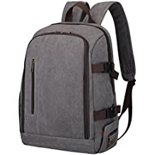 S-ZONE Professional Waterproof Canvas Camera Bag Backpack for DSLR, Lenses, Laptop and Tripod