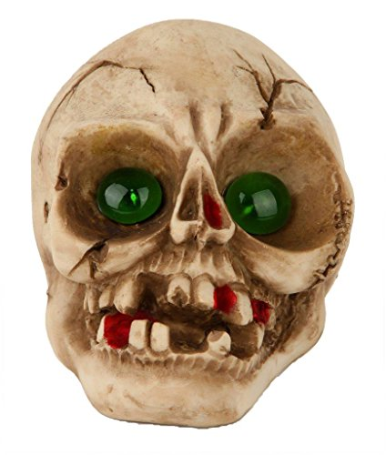 Lightahead Solar Powered Halloween Skull Decoration Light Outdoor Multi-Color Changing Garden Lamp