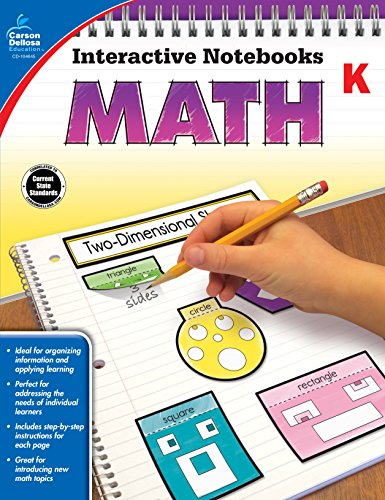 Carson Dellosa Math Interactive Notebook, Grade K (Interactive Notebooks) from Carson-Dellosa
