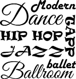 Wall Decal Quote Dance Sayings Collage Girl Tapp Ballet Jazz Modern Ballroom Sports Wall Decal Sticker Art Mural Home Decor