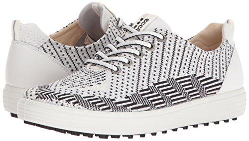 Ecco Golf. ECCO Women's Casual Hybrid Knit Golf Shoe, White Black/White, 38 EU/7-7.5 M US #golf