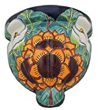 Mexican Talavera Wall Planter Handmade Hand Painted Pottery Planter Wall Hanging Sconce Planter # 09