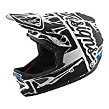 Troy Lee Designs D3 Fiberlite Factory Mountain Downhill BMX Bike Full Face Helmet 2018 exceeds CPSC CE-EN ASTM Standards X-Large White/Black