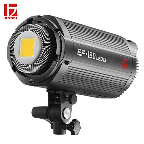 JINBEI EF-150 150Ws Dimmable LED Video Light Continuous Lamp with Bowens Mount Daylight Balanced Video Light 5500K for YouTube Vine Portrait Photography Video Lighting Studio Interview RA 95+