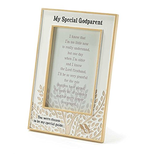 Dicksons Resin Photo Frame, My Special Godparent/White (Godparent Picture Frame)
