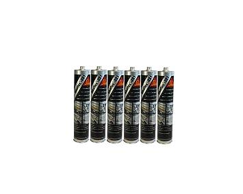 6x Sikaflex -221 Dichtstoff Karosseriedichtmasse Spoilerkleber Schwarz