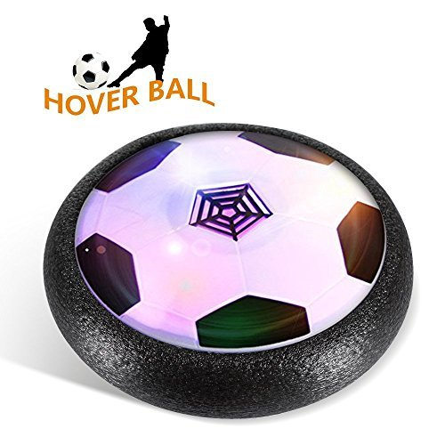 Kid Toy,Air Powered Electric Soccer Football with LED Light and Foam Bumpers Sports Toys Boys Girls Pets for Indoor Outdoor Activities Toys Holiday Birthday Gift 51TpHRgKxYL