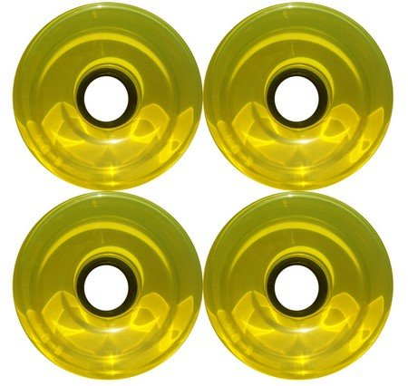 すり数学的ななだめる76 mm 78 aオフセットハブ半透明イエローLongboard Wheels