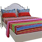 FADFAY Floral Bed Sheets Boho Style Fitted Sheets 4Pcs-King