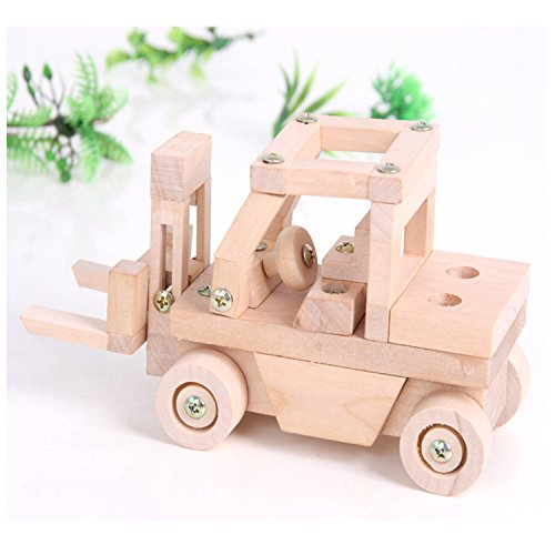 (Sala Trend Children Wooden Fork Lift Car Building)