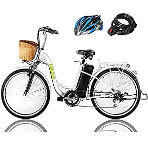 Amazon.com: Nakto Bicicleta eléctrica Sporting Shimano 6 ...