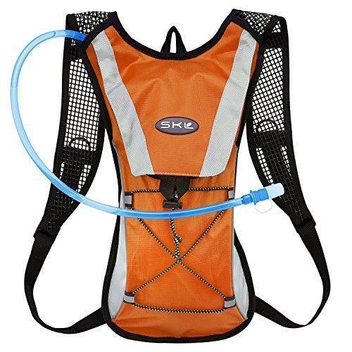 [KuYou]Hydration Pack Water Rucksack Backpack Bladder Bag Cycling Bicycle Bike/Hiking Climbing Pouch + 2L Hydration Bladder,(Orange+Water Pouch)
