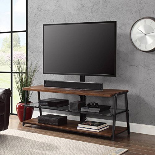 Mainstays 3-in-1 Medium Brown TV Stand for TV's up to 70