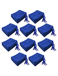kesoto 50 Pieces Blue Soft Velvet 5x7cm Jewelry Candy Pouch Christmas Party Supplies