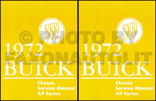 1972 BUICK 2 VOL. SET OF REPAIR SHOP & SERVICE MANUAL INCLUDES Centurion, Sabre, LeSabre Custom, Riviera, Riviera Gran Sport, Skylark, Skylark Custom 72 ()
