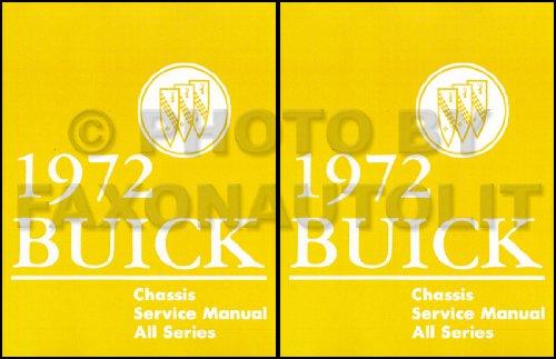 1972 BUICK 2 VOL. SET OF REPAIR SHOP & SERVICE MANUAL INCLUDES Centurion, Sabre, LeSabre Custom, Riviera, Riviera Gran Sport, Skylark, Skylark Custom ()