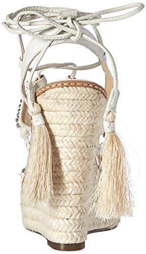 Schutz Women's Talinha Espadrille Wedge Sandal, Pearl/Palma, 10 M US
