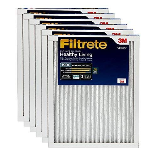 Filtrete 14x25x1, AC Furnace Air Filter, MPR 1900, Healthy Living Ultimate Allergen, 6-Pack