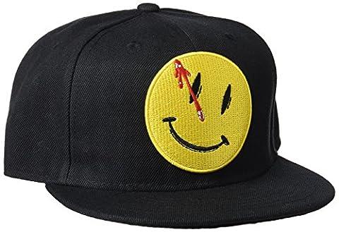 Watchmen Adjustable Cap Smiley Logo black CODI Beanies Caps - Smiley Black Cap