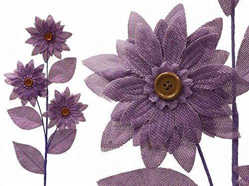 Tableclothsfactory 15 Burlap Large Daisy Flowers - Lavender