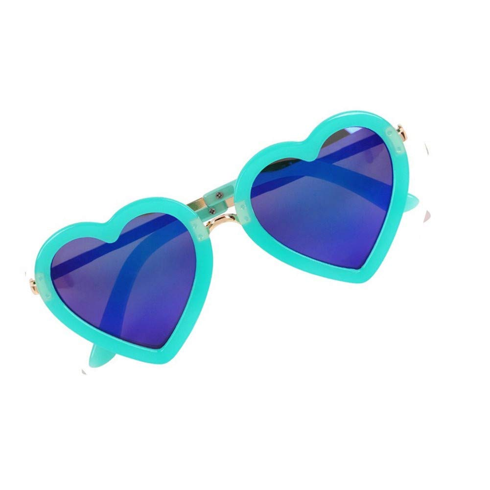 Age 3-10 Heart Shaped Sunglasses for Girls