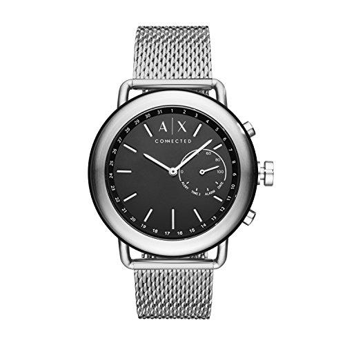 Armani Exchange Men's Hybrid Smartwatch, Stainless Steel, 47 mm, AXT1020 -