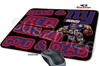 New York Giants Mouse Pad Mousepad, Sold By Cus2mize 0723736674016