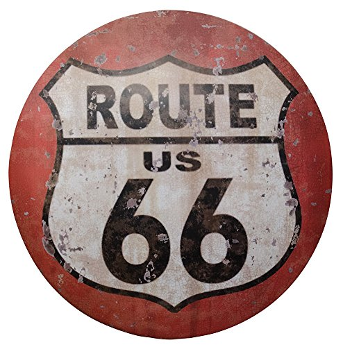 (CWI Gifts Retro Route 66 Metal Sign, 12