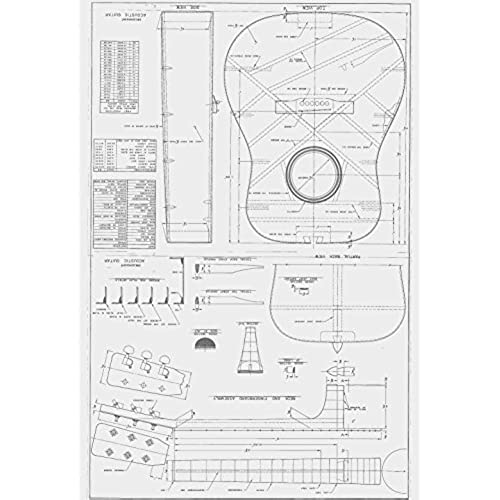 Guitar plans amazon martin d28 style guitar plans to build full scale acoustic guitar malvernweather Choice Image