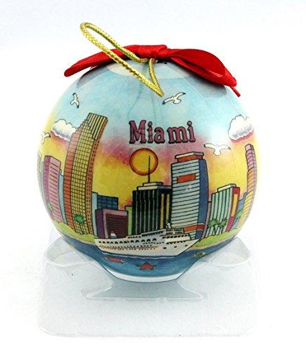 Souvenir Destiny Miami Florida Christmas Ball Ornament