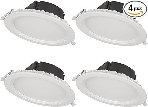 Bazz Slmtb4w4 Slim Recessed Led Light Fixture Matte White 4 Piece Amazon Com