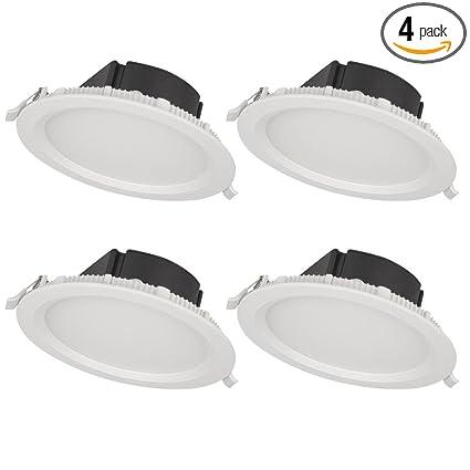 Bazz Slmtb4w4 Slim Recessed Led Light Fixture Matte White 4