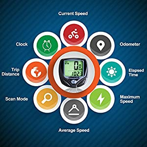 Raniaco Bike Computer, Original Wireless Bicycle Speedometer, Bike Odometer Cycling Multi Function- Premium Product Package, Gifts for Bikers/Men/Women/Teens