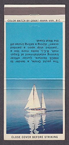 HMCS Oriole IV Bermuda-rigged ketch tender yacht matchcover