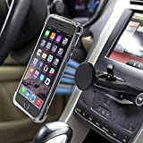 MANORDS Anniversary Magnetic CD Slot Car Phone Mount, Universal 360 Rotation Cell Phone Holder GPS Mount Compatible Most of The Phone, with Extra iPhone 7 Plus 8 Plus Phone Case