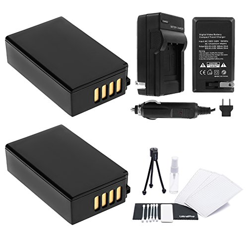 UltraPro EN-EL20 / EN-EL20a 2-Pack Battery Bundle with Rapid Travel Charger and UltraPro Accessory Kit for Select Nikon Cameras Including Nikon P1000, Nikon 1 J1, 1 J2, 1 J3, 1 S1, and DL24-500