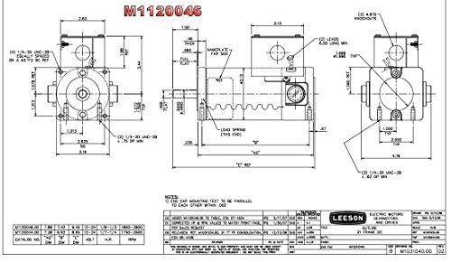 Permanent Magnet 12VDC Motor TENV 1/6hp 1800/3900RPM 31GS Frame Leeson Electric Motor # M1120046 by Leeson (Image #1)
