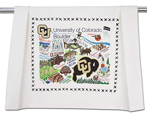 Catstudio-University of Colorado Boulder Dish Towel, Tea Towel or Hand Towel