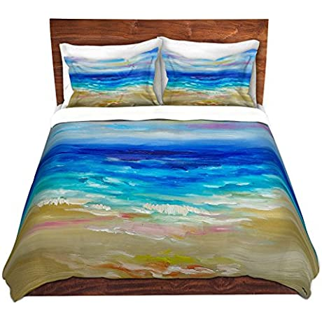 DiaNoche Designs Microfiber Duvet Covers Lam Tim Waves Abstract Lll