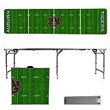 NCAA Auburn University Tigers Football Field Version 8 Foot Folding Tailgate Table,1234,Multi