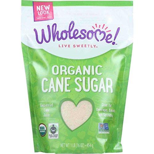 Wholesome Organic Unrefined Milled Sugar, 1 Pound -- 12 per case.