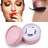 Magnetic Eyelashes, Magnetic Lashes Extensions 3D Reusable No Glue Ultra Soft Long & Thick For Natural Look (1 Pairs 4 Pieces)